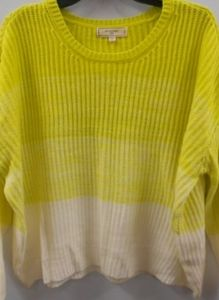 No Comment 2X Wild Lime/White Ombre Sweater